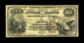 Little Rock, AR - $10 1882 Brown Back Fr. 480 The Exchange NB Ch. # 3300 A second exciting Little Rock note, this one o...