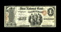 National Bank Notes:Colorado, Denver, CO - $1 Original Fr. 380 The First NB Ch. # 1016. Until this incredible numismatic rarity walked into the 2006 D...