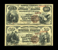 Key West, FL - $10-$20 1882 Brown Back Fr. 485/499 The First NB Ch. # 4672 Uncut Pair This Key West $10 and $20 serial...
