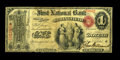 Springfield, IL - $1 Original Fr. 380 The First NB Ch. # 205 This is one of only two First Charter Aces known from the...