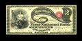 Lebanon, IN - $2 Original Fr. 389 The First NB Ch. # 2057 A particularly well centered Original Deuce from an instituti...