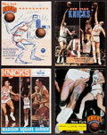 Basketball Collectibles:Programs, 1967-73 New York Knicks Multi Signed Programs Lot of 4....
