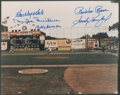 Baseball Collectibles:Photos, Brooklyn Dodgers Hall of Famers and Legends Multi SignedPhotograph....