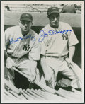 Baseball Collectibles:Photos, Bill Dickey and Joe DiMaggio Multi Signed Photograph....