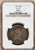 Early Half Dollars: , 1795 50C 3 Leaves AG3 NGC. O-116. NGC Census: (0/10). PCGSPopulation (0/33). Numismedia Wsl. Price for problem free NGC/...