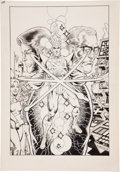 Original Comic Art:Covers, Pat Broderick The Fury of Firestorm #1 Alternative Unused Cover Original Art (DC, 1982)....