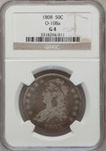 1808 50C Good 4 NGC. O-108a. NGC Census: (2/422). PCGS Population (2/529). Mintage: 1,368,600. Numismedia Wsl. Price for...