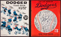 Baseball Collectibles:Publications, 1957 and 1958 Dodgers Yearbooks Lot of 2 - Last in Brooklyn andFirst in Los Angeles!...