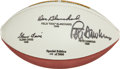 Football Collectibles:Balls, Army Heisman Winners Multi Signed Football....