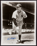 Baseball Collectibles:Photos, Red Ruffing Signed Photograph and Unsigned 1971 Old Timers Day Program....