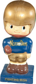 Football Collectibles:Others, 1960's Notre Dame Fighting Irish Square Base Nodder....