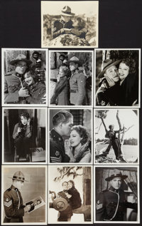 "Jeanette MacDonald & Nelson Eddy in ""Rose Marie"" (MGM, 1936). Original and Restrike Photos (9) (8"" X..."