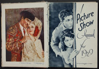 """The Picture Show Annual for 1929 (Amalgamated Press, Ltd., 1929). British Hardbound Annual (160 pages, 8.5"""" X 11&qu..."""