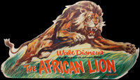 """The African Lion (Buena Vista, 1955). Standee (43"""" X 76""""). Documentary"""