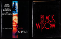"""Black Widow and Other Lot (20th Century Fox, 1987). Presskits (2) (Multiple Pages, 9"""" X 11.5"""") with Photos (9)..."""