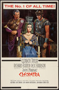 "Movie Posters:Historical Drama, Cleopatra (20th Century Fox, 1963). One Sheet (27"" X 41"") RoadshowStyle. Historical Drama.. ..."