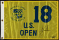 "Golf Collectibles:Autographs, Tiger Woods Signed ""Upper Deck Authenticated"" 2000 U.S. Open PebbleBeach Flag...."