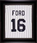 Baseball Collectibles:Uniforms, Whitey Ford Signed Jersey Number Display....