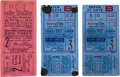 Baseball Collectibles:Tickets, 1927 World Series Ticket Stubs Lot of 3....
