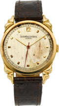 Timepieces:Wristwatch, Vacheron & Constantin Rare Gold Wristwatch With Unusual Lugs,circa 1953. ...