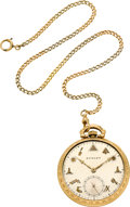 Timepieces:Pocket (post 1900), Dudley Masonic Model No. 3 Pocket Watch With Chain, circa 1925. ...