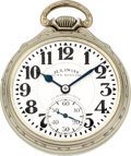 Timepieces:Pocket (post 1900), Illinois 163A Elinvar 23 Jewel Sixty Hour Bunn Special, circa 1934....