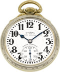 Timepieces:Pocket (post 1900), Illinois 163 Elinvar Sixty Hour Bunn Special, circa 1931. ...