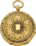Timepieces:Pocket (pre 1900) , Patek Philippe & Co. Early Enamel Key Wind by A.H. Rodanet& Cie. Paris, circa 1865. ...