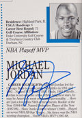 Basketball Collectibles:Others, 1992 Michael Jordan & Other Stars Signed Golf Program....
