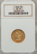 Liberty Half Eagles: , 1848 $5 XF45 NGC. NGC Census: (45/274). PCGS Population (30/112).Mintage: 260,775. Numismedia Wsl. Price for problem free ...