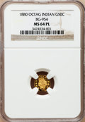 California Fractional Gold: , 1880 50C Indian Octagonal 50 Cents, BG-954, Low R.4, MS64 ProoflikeNGC. NGC Census: (5/7). (#710...