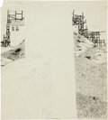 Original Comic Art:Sketches, S. Clay Wilson Architectural Lines - Blank Middle Sketch Original Art (1960)....