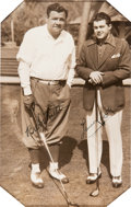 Autographs:Photos, 1930's Babe Ruth & Lawson Little Signed Photograph....