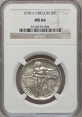 Commemorative Silver: , 1939-S 50C Oregon MS66 NGC. NGC Census: (293/101). PCGS Population(253/88). Mintage: 3,005. Numismedia Wsl. Price for prob...