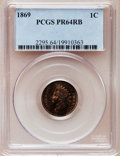 Proof Indian Cents: , 1869 1C PR64 Red and Brown PCGS. PCGS Population (72/36). NGCCensus: (76/78). Mintage: 600. Numismedia Wsl. Price for pro...