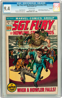 Sgt. Fury and His Howling Commandos #100 Savannah pedigree (Marvel, 1972) CGC NM 9.4 Off-white pages