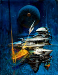 Mainstream Illustration, JOHN CONRAD BERKEY (American, 1932-2008). Up in Space.Acrylic and casein on board. 25.5 x 20 in.. Signed lower right. ...