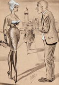 "Pin-up and Glamour Art, BILL WARD (American, 1919-1998). ""If It's a Date You'reInterested in- I Suggest You Speak to our Local High SchoolHistor..."