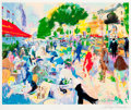 Mainstream Illustration, LEROY NEIMAN (American, b. 1926). Fouquet's Café. Serigraph.21 x 26 in.. Signed lower right margin. ...