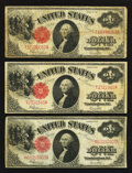 Fr. 39 $1 1917 Legal Tenders Three Examples Fine or Better