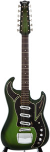 Musical Instruments:Electric Guitars, 1960s Baldwin Double Six Green Sunburst 12-String Solid BodyElectric Guitar, #11883...