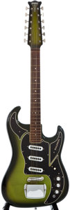 Musical Instruments:Electric Guitars, 1960s Baldwin Double Six Green Sunburst 12-String Solid BodyElectric Guitar, #14863....