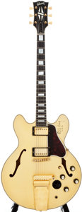 Musical Instruments:Electric Guitars, 1965 Gibson Stereo ES 355TD White Semi-Hollow Body Electric Guitar, #326213....