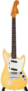 Musical Instruments:Electric Guitars, 1975 Fender Mustang White Solid Body Electric Guitar, #644418....