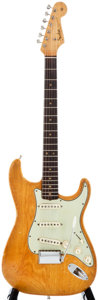 Musical Instruments:Electric Guitars, 1963 Fender Stratocaster Natural Solid Body Electric Guitar,#L16425....