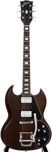 Musical Instruments:Electric Guitars, 1972 Gibson SG Walnut Solid Body Electric Guitar, #623943....