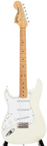 Musical Instruments:Electric Guitars, 1997 Fender Stratocaster White Solid Body Electric Guitar, #TN702410....