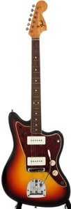 Musical Instruments:Electric Guitars, 1965 Fender Jazzmaster Sunburst Solid Body Electric Guitar,#119236....
