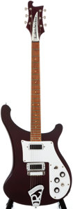 Musical Instruments:Electric Guitars, 1973 Rickenbacker 480 Burgundy Solid Body Electric Guitar, #LL1496....
