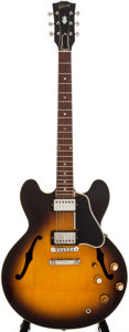 Musical Instruments:Electric Guitars, Circa 1958 Gibson ES-335 Sunburst Semi-Hollow Body Electric Guitar,#N/A....